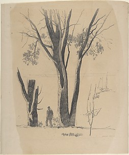 Study of Man between Trees