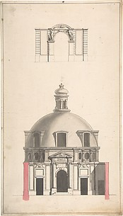 Elevation of the Amphitheatre and Entrance Gate of the Collège des Chirugies, Paris
