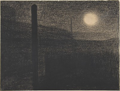 Courbevoie: Factories by Moonlight