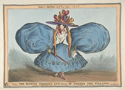 Modern Oddities by P. Pry Esq., Plate 1st: The Sleeves Curiously Cut, Ay There's the Villainy - vide Shakespeare