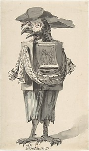 Caricature of a Printseller