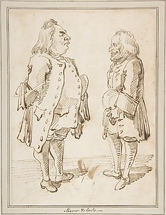 Marco and Carlo: Caricature of Two Men Standing Face to Face