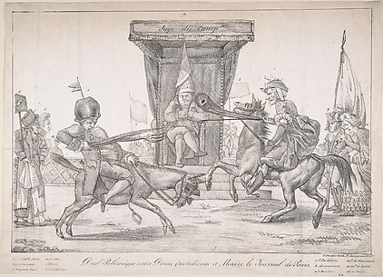 Polemical Duel between Lady Quotidienne and Sir Journal de Paris (Duel polémique entre dame quotidienne et messire le Journal de Paris)
