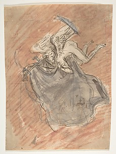 Design for a sepulchral monument with an allegory of Time; verso: Design for a sepulchral monument