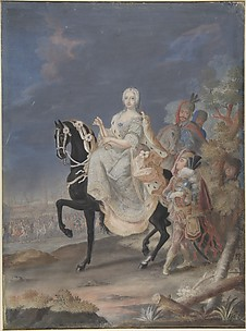 Portrait of a Russian Empress on horseback