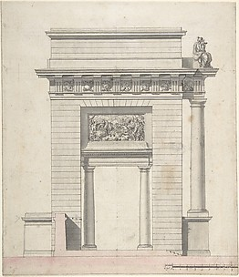 Side Elevation of a Triumphal Arch
