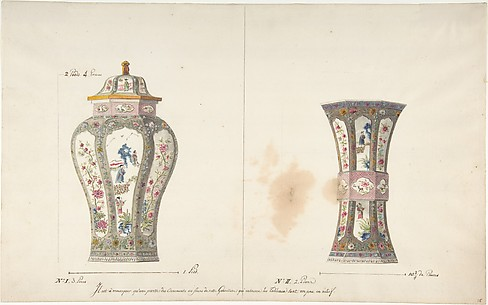 Designs for Two Porcelain Vases