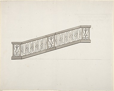 Design for Ornamented Stair Railing