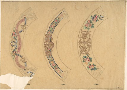 Three Designs for Plate Borders (recto); Three Designs for Plate Borders (verso)