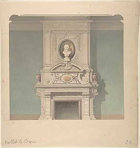 Design for Fireplace in French Renaissance Revival Style