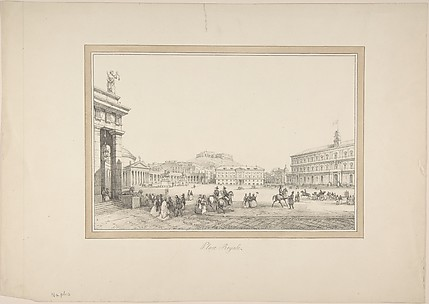 View of Naples: Place Royale