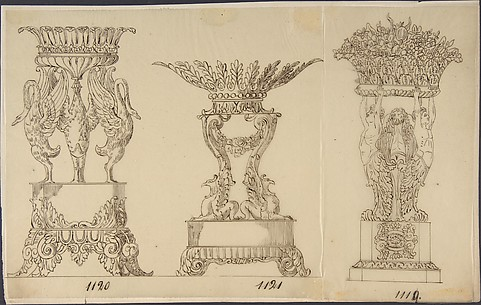 Designs for Two Serving Dishes and a Planter