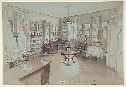Drawing of an Interior: Chambre à coucher