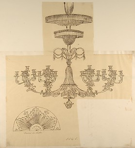 Designs for a Chandelier and a Plaster Mount
