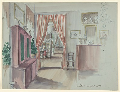 Drawing of an Interior: Salle à manger