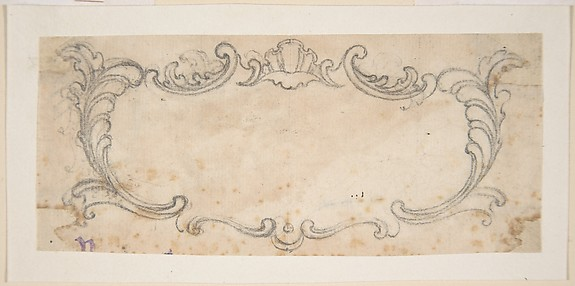 Design for an Ornament with Voluted Pediment and Portrait Bust.