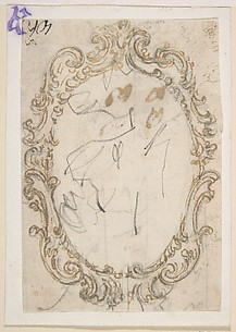 Design for a Cartouche with an Oval Frame.