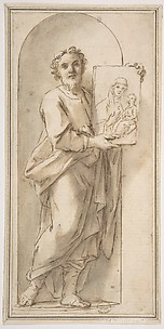 Saint Luke Holding a Painting of the Virgin and Child.