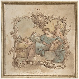 Vignette with an Allegorical Figure of Astronomy