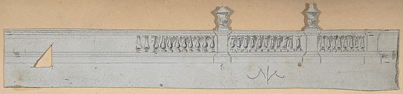 Design for a Stage Set at the Opéra, Paris: Balustrade