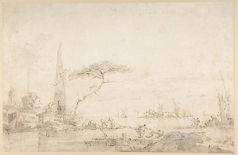 Lagoon Capriccio with an Obelisk