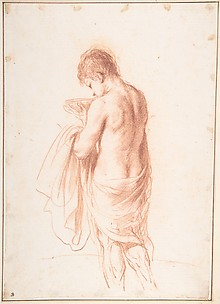 Standing Youth Seen from Behind Holding a Bowl (Ganymede?)