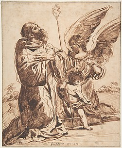 Saint with Angel and Putto