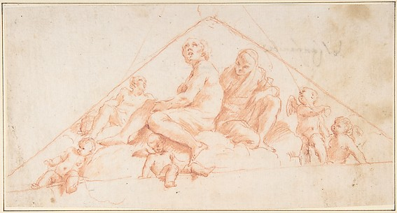 Seated Apostles and Putti