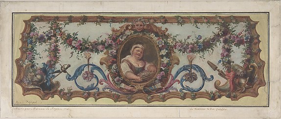 Design for a Tapestry Seat of a Sofa
