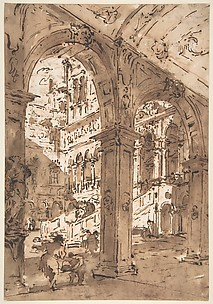 Architectural Capriccio: Courtyard of a Palace