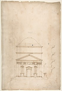 S. Andrea via Flaminia, elevation (recto) blank (verso)