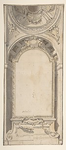 Architectural Design with an Altarpiece Framed in a Niche and Surmounted by a Dome