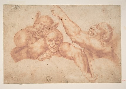 Study of Figures from Michelangelo's Last Judgment, Sistine Chapel