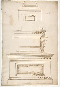 Design for a Sarcophagus on a Pedestal