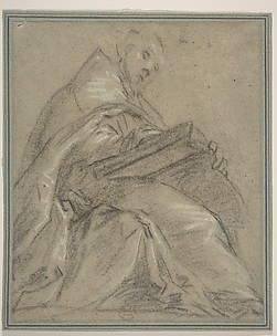 Seated Doctor of the Church Reading (Saint Ambrose or Saint Gregory)