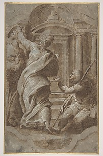 Saints Peter and John Healing a Cripple at the Gate of the Temple