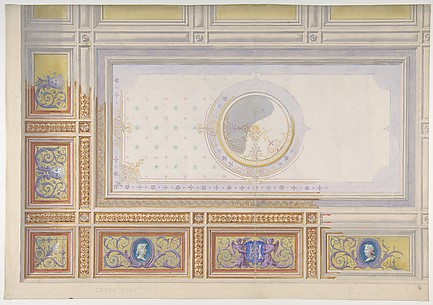 Ceiling Design for Bedroom of Duchesse de Newcastle, Hôtel of Madame Hope
