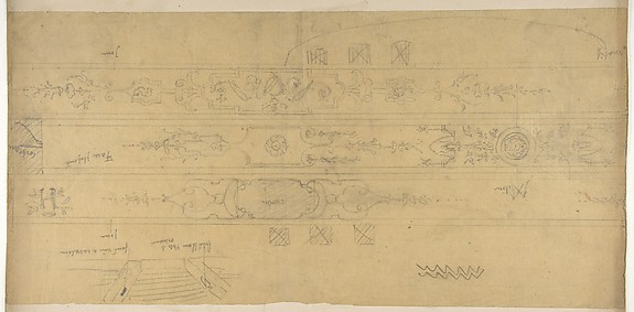 Design for Ceiling Decorations, Fontainebleau
