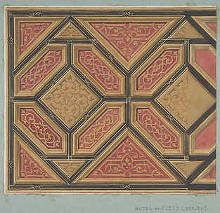 Design for the Decoration of the Ceiling in the Hôtel de Pless, Berlin, or the Chateau de Cangé in the Loire