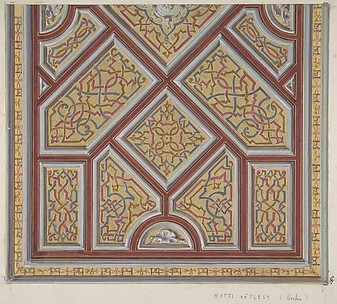 Design for Ceiling Decoration in the Hôtel de Pless, Berlin