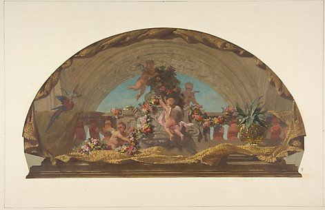Design for the Decoration of a Lunette on the Staircase, Hôtel de Pless, Berlin