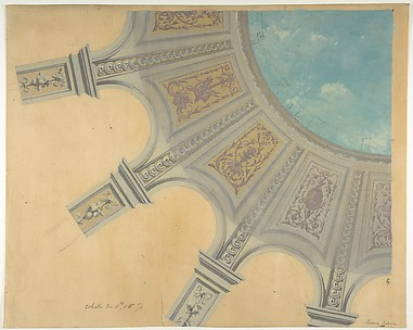 Design for a decorated dome in the Peruviez residence, Belgium