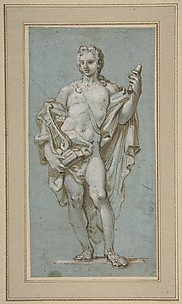 Standing Figure of Apollo with a Lyre