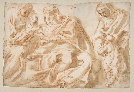 The Holy Family with Saint Elizabeth and the Infant Baptist