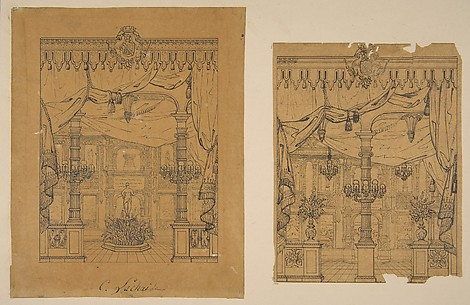 Two Views of a Grand Foyer