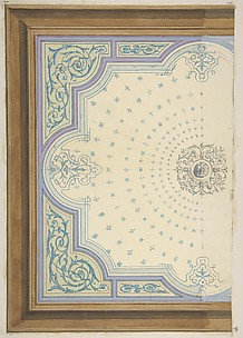Design for the decoration of a ceiling with strapwork and rinceaux