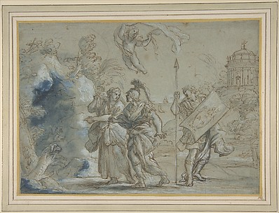 Aeneas and the Cumaean Sibyl Entering the Infernal Regions