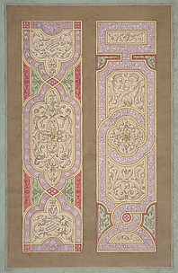 Designs for two panels painted in rinceaux