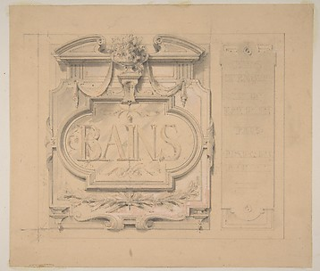 Design for an ornamental plaque for a bath house