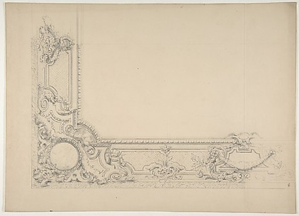Partial design for a ceiling with an ornate border